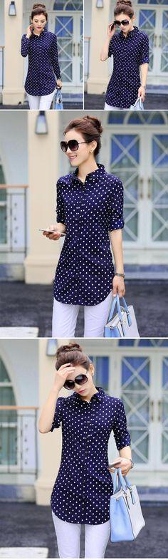 New Fashion Print Blouses Women Long Style Shirts 2019 Cotton Ladies Tops Long Sleeve Blusas Femininas Plus Size Women Clothing Fashion Prints, New Fashion, Trendy Fashion, Fashion Tips, Stylish Tops, Plus Size Womens Clothing, Printed Blouse, Blouses For Women, Casual Wear