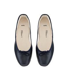 Porselli ballet flats - NAVY BLUE - A.P.C. WOMEN