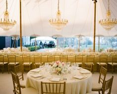 Long table and round table