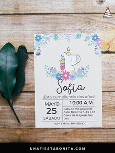 unicorn birthday ideas and inspiration Unicorn Invitations, Party Invitations, Party Decoration, Types Of Lettering, Fiesta Party, Unicorn Birthday Parties, Birthday Ideas, Party Activities, Baby Shower