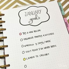 Monthly goal planner printables by MichaelsMakers U Create Crafts