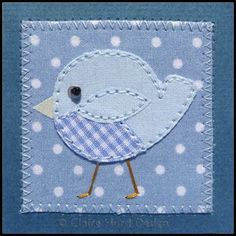 Claire Hurd Design: New Baby Cards - I like the zig zag stitching around the edge Fabric Cards, Fabric Postcards, Free Motion Embroidery, Machine Embroidery, Baby Design, Textiles, Sewing Cards, Christmas Applique, New Baby Cards