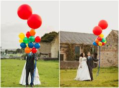 Becki and Jonny's Hand Crafted Wedding With Balloon Release and First Look. By Paul Joseph Photography