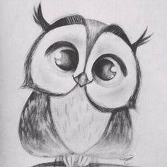 Einfac Art Tutorial Art tutorial easy PENCIL DRAWING Einfac MalTutorial S . Easy Pencil Drawings, Pencil Drawing Tutorials, Art Drawings Sketches Simple, Animal Sketches, Animal Drawings, Art Tutorials, Cool Drawings, Cute Owl Drawing, Easy Drawings Of Animals