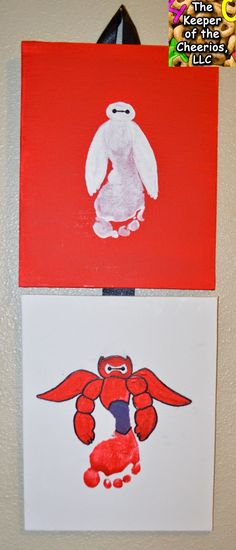 The Keeper of the Cheerios: Baymax Big Hero 6 Footprint Craft