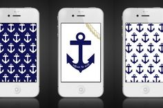 anchor iphone wallpaper by HiFiveDesigns on Etsy, $1.00
