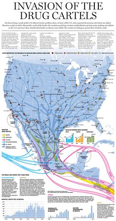 Graphic: Mexican drug cartels' spreading influence (Mexico to US-Large Graphic)