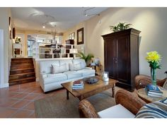Sunken Living Room - Olde Naples - Florida.