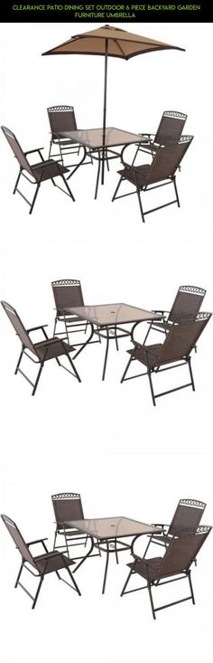 f90fd17ce5c Clearance Patio Dining Set Outdoor 6 Piece Backyard Garden Furniture  Umbrella  sets  tech