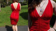 Vintage Red BodyCon Dress Tadashi Deadstock by LuluandGandore, $80.00