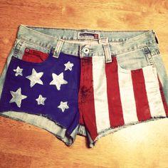 4th of July shorts! DIY!