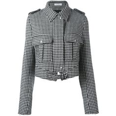 J.W.Anderson houndstooth pattern jacket ($1,607) ❤ liked on Polyvore featuring outerwear, jackets, black, pattern jacket, j.w. anderson, houndstooth jacket, print jacket and hounds tooth jacket