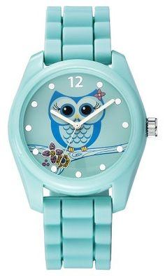 Xhilaration® Women's Owl Character Analog Watch - Green - XhilarationTM