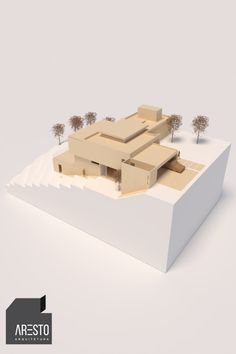 Architecture Model Making, Architecture Design, Sketches Of People, House Viewing, House On A Hill, Best Model, Model Homes, Mountain Club, Projects To Try