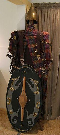 Reconstruction of a Celtic warrior's garments, museum Kelten-Keller, Rodheim-Bieber, Germany