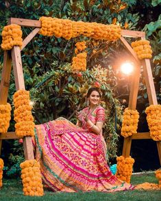 New Mehendi Decor Ideas That We Are Totally Crushing On! New Mehendi Decor Ideas That We Are Totally Crushing On! Desi Wedding Decor, Indian Wedding Decorations, Indian Weddings, Indian Wedding Mehndi, Bengali Wedding, Peach Weddings, Quinceanera Decorations, Stage Decorations, Bridal Mehndi
