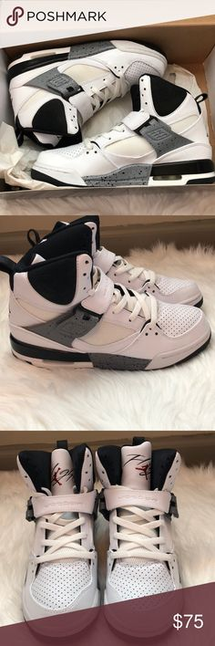 Jordan Flight 45 Jordan Flight 45 in big kids size 6.5. I wear a woman's  7.5/8 and these fit perfectly. Cool shoes to wear out or to a hip hop dance  class.