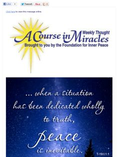 Weekly ACIM thought from Foundation for Inner Peace.