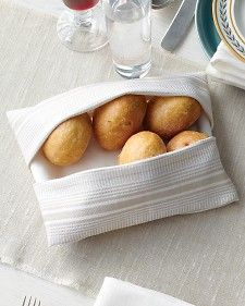 Bread Basket Napkin    Some holiday parties require every serving dish you own -- and then some.