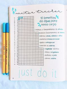 water tracker bullet journal | @bujobygio