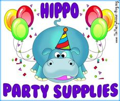 Hippo Party Supplies and ideas