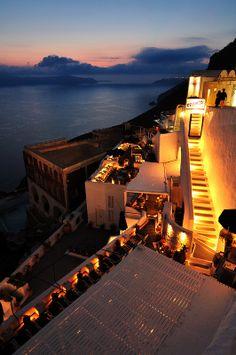 """""""Franco's"""" Bar in Fira, Santorini"""