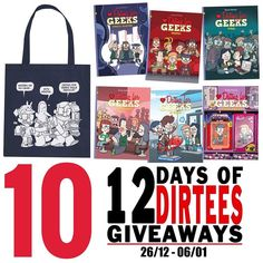 On the tenth day of 12 Days of Dirtees Giveaways I'm raffling off a Dating for Geeks goodiebag which will contain a.o. an album of your choosing.  Want a chance to win? Describe in the comments what the geekiest date would look like. You can participate on Instagram and Facebook. -Melvin #freecomicbookday #datingforgeeks #geeklove #12daysofdirtees #comic #comics #comicbook #comicbooks #comiccollector #comiccollection #comicbookcollection #geeklove #geekgasm #geekout #geeklife #geekculture