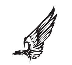 Эскиз татуировки трайбл орел Tattoo sketch tribal eagle