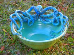 Hey, I found this really awesome Etsy listing at https://www.etsy.com/listing/211734633/large-stoneware-octopus-bowl