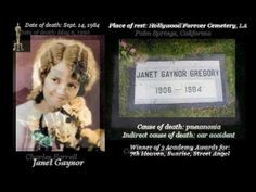 Silent Stars Graves / Deaths - Their Final Journeys - How They Died - YouTube
