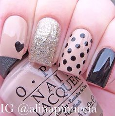 Love polka dots #glitter #points
