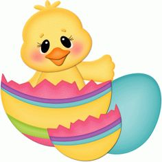 Silhouette Design Store - View Design #56422: easter chick sitting in cracked egg pnc