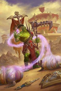 ArtStation - Dark defender of the Horde, Kirill Stepanov Warcraft Orc, World Of Warcraft, Fantasy World, Fantasy Art, For The Horde, Night Elf, Wow Art, Medieval Fantasy, Fantasy Creatures