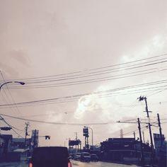 福島は、夕方は… 雨…