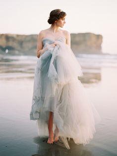 Ocean blue and grey wedding ideas