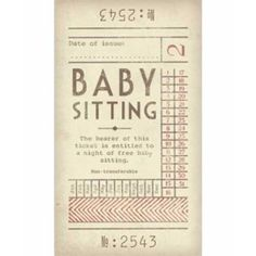 baby shower offer babysitting coupon google search