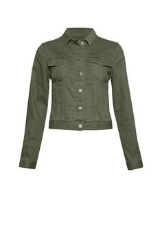 A wardrobe staple is updated in a colourful hue. The Drew Denim Jacket has a slightly cropped fit, patch pockets and panel detailing at front. My Outfit, Wardrobe Staples, Vest, Leather Jacket, Fashion Outfits, Denim, Fitness, Clothing, Jackets