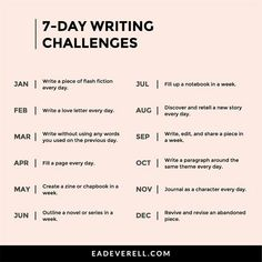 Day Writing Challenge List - Monthly Writing Day Writing Challenge List - Monthly Writing Challenges The Ultimate Writer's Notebook 30 Day Writing Challenge One Page Story Writing Challenge Prompts NCIS inspired t-shirt Gibbs' rules. Awesome gift for all Journal Writing Prompts, Book Writing Tips, Writing Help, Writing Skills, Story Writing Ideas, Journal Prompts For Teens, Poetry Prompts, Writing Prompts For Writers, Picture Writing Prompts