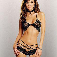1c3c8b3b17 Women Sexy Lingerie Bandage Lace Underwear Babydoll Sleepwear G string Bra  Set -in Bra   Brief Sets from Women s Clothing   Accessories on  Aliexpress.com ...