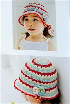 Colorful Summer Hat with Flower Pin free crochet pattern