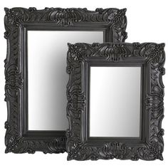 Black Baroque Mirrors from Pier One Unique Home Decor, Home Decor Items, Pier 1 Decor, Steampunk Bedroom, Baroque Mirror, Gothic Glam, Black Wall Mirror, Gothic House, Red Walls