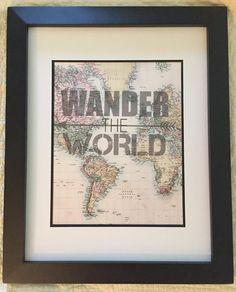 Wander The World Print by NightBirdsDesign on Etsy