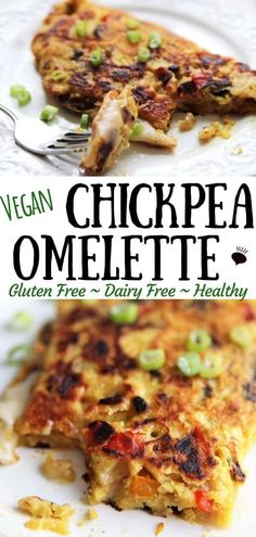 A chickpea omelette is the best invention for a vegan breakfast since sliced bread! It's vegan, gluten free, soy free, and of course egg free too. Whole Foods, Whole Food Recipes, Cooking Recipes, Healthy Recipes, Vegan Chickpea Recipes, Vegan Keto, Meal Recipes, Vegan Foods, Recipes Dinner