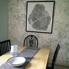 New art, old walls:) #lintonart #treeringprints #Treelovers #interiorart #hotelart #apartmenttherapy #Officedesign #giftsforhim #giftsforher #etsyseller #oldhouse #diningroomart #diningroomdesign #skandinavialdiningroom