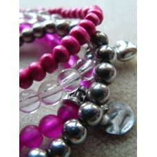 Pink! Bracelets, colourtype winter