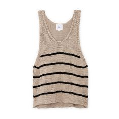Eric Chunky Knit Tank Top | G. Label - Goop Shop Zerschnittene Shirts, Cut Up Shirts, Tie Dye Shirts, Hot Topic Clothes, Diy Tank, Tomboy Outfits, Knitted Tank Top, T Shirt Diy, Tank Tops