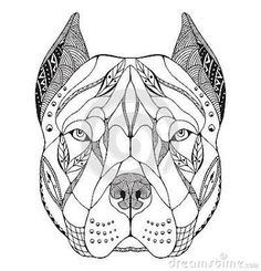 Free Pitbull Drawings Free Pit Bull Pup Lineart By