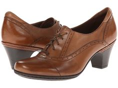 1930s style oxford shoes- Cobb Hill Sheila (Almond) Women's Lace up casual Shoes