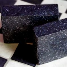 "Hops and Lavender Soap Recipe - with charcoal, and sea salt added at trace for a ""starry night effect"""