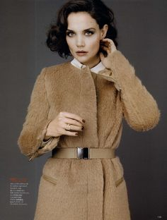 Katie Holmes in Max Mara Max Mara Coat, Little Bit, Katie Holmes, Camel Coat, Fashion Line, Winter Fashion, Street Wear, Style Inspiration, My Style